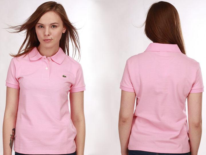 93afd70ddf58 Купить розовое женское поло Lacoste