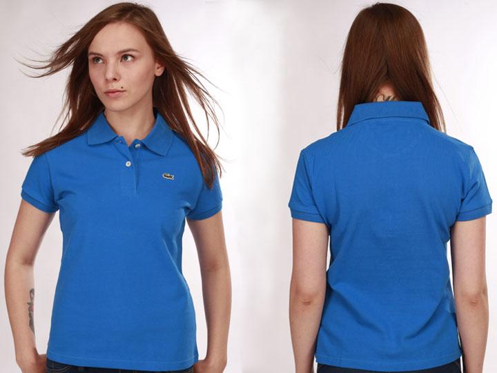 7d8be0f16ffcf Купить синее женское поло Lacoste